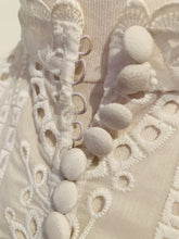 Load image into Gallery viewer, White Nicholas Long Sleeve Eyelet Top