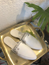 Load image into Gallery viewer, Chanel Whte Mules Sz 38