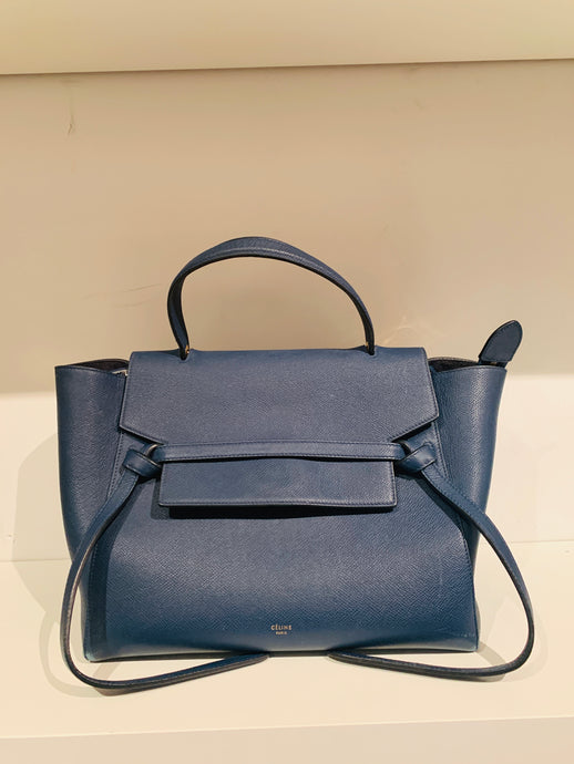 Céline Blue Leather Belt Bag