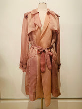 Load image into Gallery viewer, Hervé Léger's  Silk Rose  trench coat Sz L