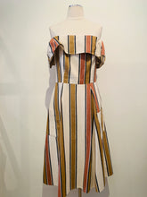 Load image into Gallery viewer, Asos Multicolor Striped Off-the-Shoulder Dress