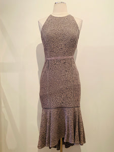 The Jetset Diaries Grey Lace Dress