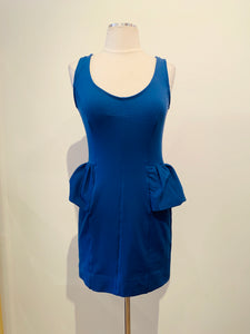 Marc by Marc Jacobs Blue Sleeveless Mini Dress