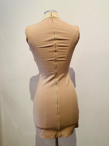 David Koma Nude Mini Dress