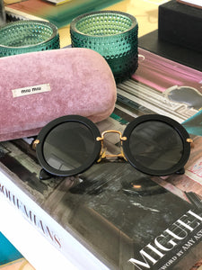 Miu Miu Rounded Sunglasses