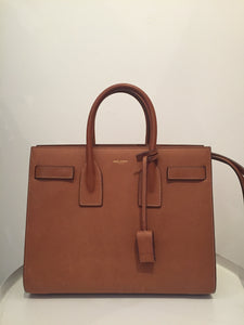 Saint Laurent Classic Sac De Jour Nano Brown Leather