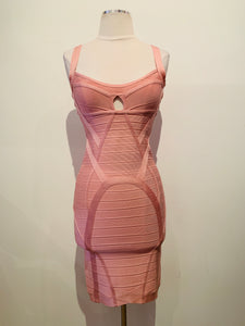 Herve Leger Rose Lane Bandage Mini Dress