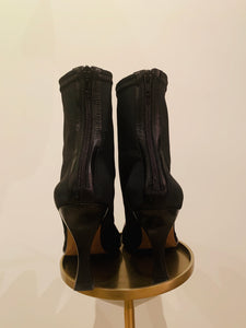 Céline Madame Black Square-Toe Ankle Boots