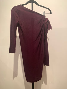 Giambattista Valli Burgundy Lightweight Mini Dress