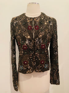 Alice + Olivia  Multicolor  Embellished Cropped Jacket