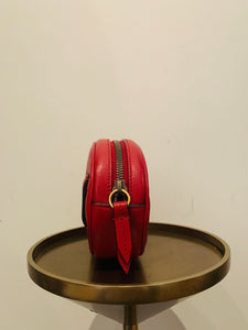 Gucci Red GG Marmont Matelassé Belt Bag