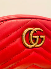 Load image into Gallery viewer, Gucci Red GG Marmont Matelassé Belt Bag