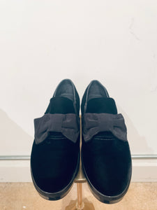 Prada Black Suede Slip-on Sneakers sz 40