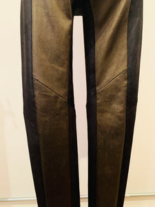 Ilaria Nistri Metalic Multicolor Leather Leggings