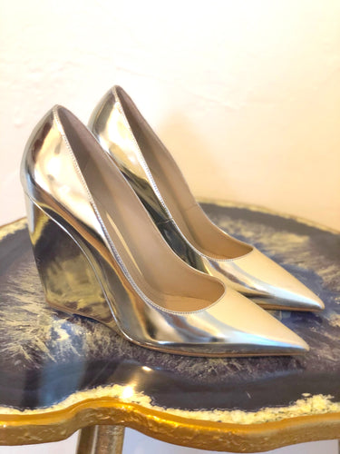 Nicholas Kirkwood Lizy Metallic Wedge 37.5