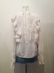 Warm White Long Sleeve Blouse