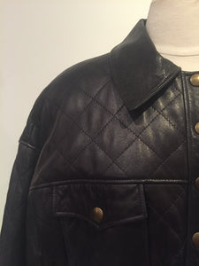 Begedor Vintage Black Leather Biker Jacket