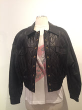 Load image into Gallery viewer, Begedor Vintage Black Leather Biker Jacket
