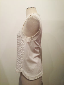 3.1 Phillip Lim White Sleeveless Tank Top