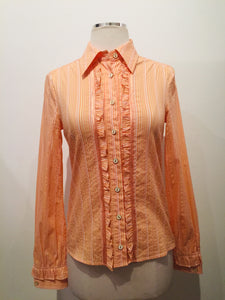 Dolce & Gabbana Orange Button-up Shirt