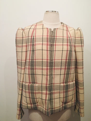 DELPOZO Multicolor Plaid Structured Blazer