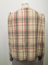 Load image into Gallery viewer, DELPOZO Multicolor Plaid Structured Blazer