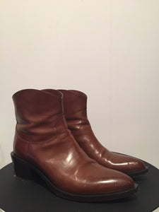 Sartore Leather Ankle Boots Sz 39