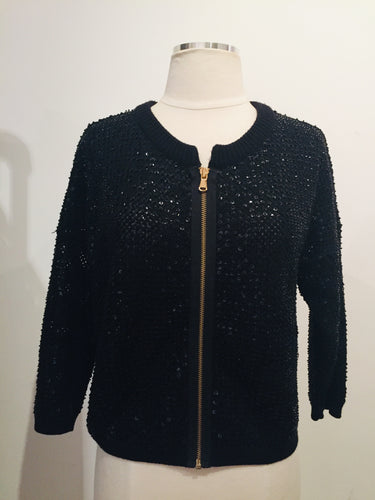 Marc by Marc Jacobs Black Embellished  Knit Jacket