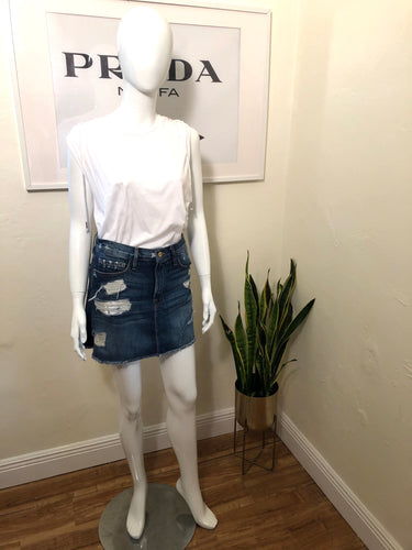 Frame Denim Mini Skirt