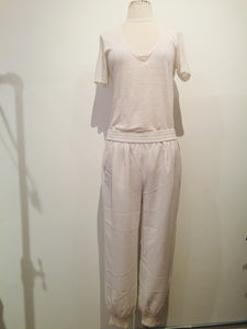 Joie White mid-rise Tapered Sweatpants