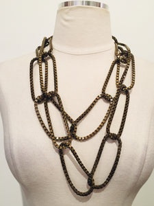 Lanvin Brass Chain Link Necklace