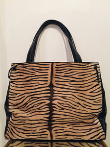Susan Bennis Warren Edwards Vintage Animal Print Bag