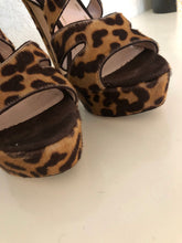 Load image into Gallery viewer, Miu Miu Animal Print Pony Hair Sandals 39.5