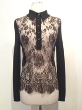 Load image into Gallery viewer, Valentino Brown Lace Knit Sweater Sz L