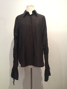 Yves Saint Laurent Brown Shirt Sz 10