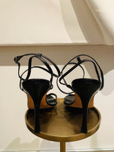 Load image into Gallery viewer, Manolo Blahnik  Black Leather Sandals