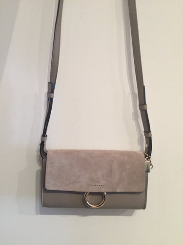 Chloe Taupe Faye Wallet On Strap