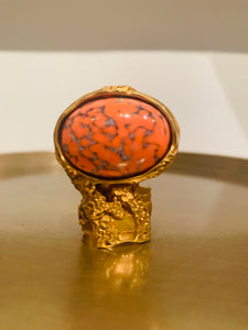 Yves Saint Laurent  Gold-tone Arty Ring
