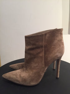 Gianvito Rossi Taupe Suede Ankle Boots Sz 37.5