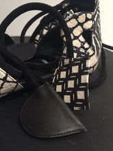 Load image into Gallery viewer, Pierre Hardy Black and Creme Snakeskin Sandals Sz 37