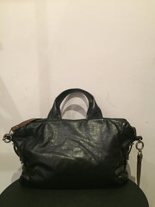 Marni Black Leather Shoulder Bag