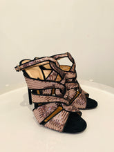 Load image into Gallery viewer, Tom Ford Rose Sequin Peep Toe Sandals