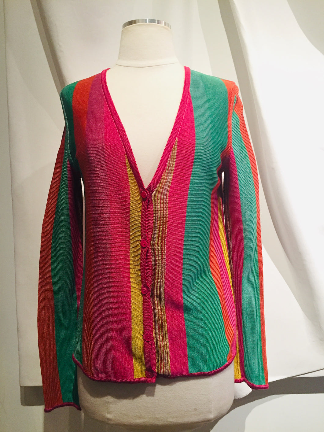 Missoni Multicolor Long Sleeve Knit Cardigan