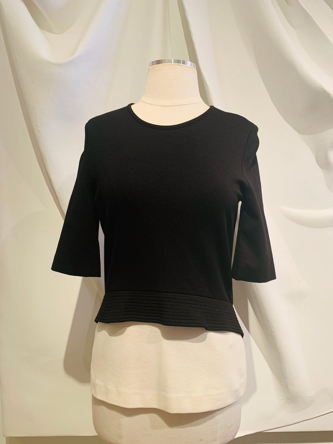 Stella McCartney Black & White Peplum top