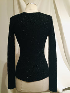 Dona Karan Black Knit Sweater