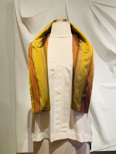 Romeo Gigli Multicolor Stripes Cropped Vest