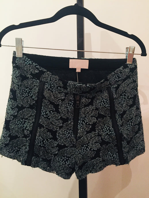 Alexis Green And Black Lace Pattern Shorts