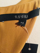 Load image into Gallery viewer, Gucci Mustard Silk Sleeveless Top