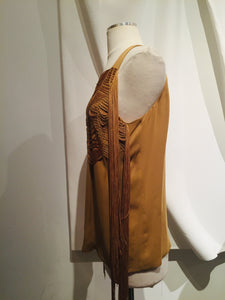 Gucci Mustard Silk Sleeveless Top