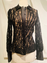Load image into Gallery viewer, Alexis Black Long-Sleeve Blouse